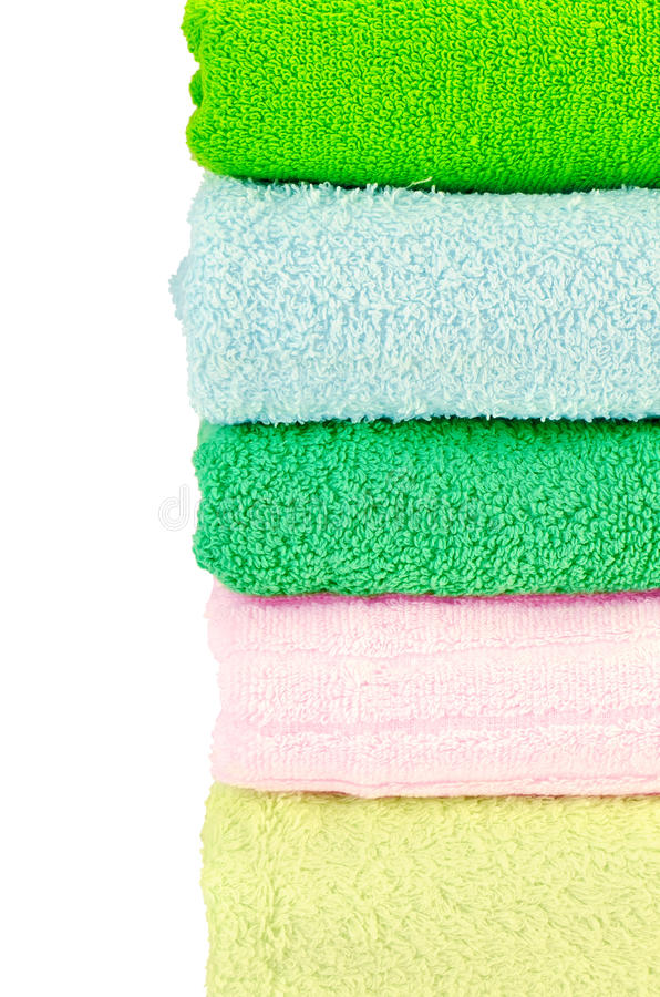 Download Towels stack stock photo. Image of fresh, cloth, green - 24459854