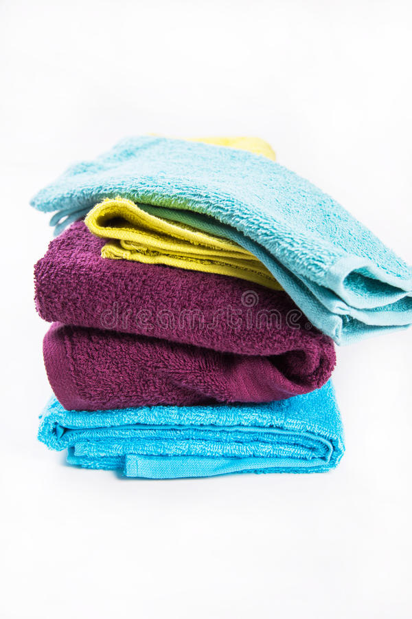 Towels in studio stock photography