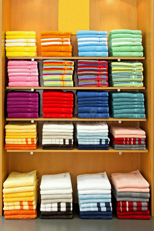 Download Towels vertical stock photo. Image of store, rack, bath - 5068280