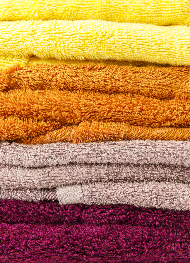 Towels on a white background stock image