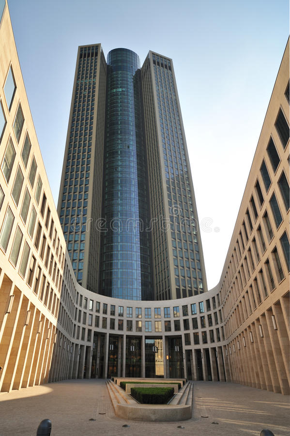 Tower number 185 from Frankfurt city, Germany stock photo