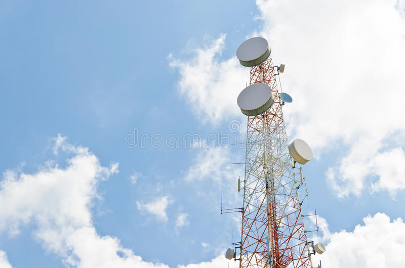 Download Tower stock image. Image of structure, satellite, blue - 27601251