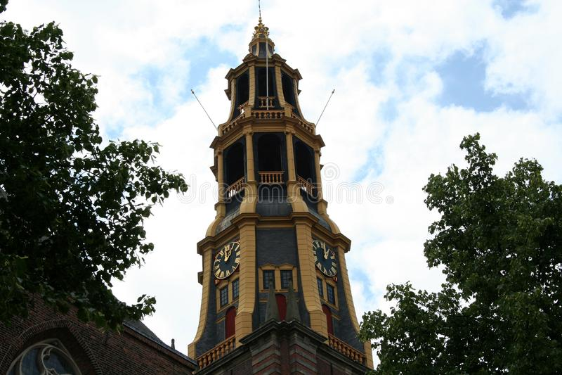 The tower of the AA Chuch. Netherlands,Groningen,City of Groningen, june 2016: the tower of the AA Chuch stock photography