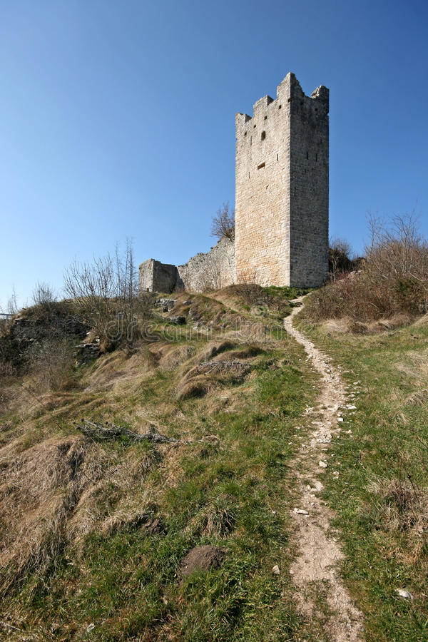 Download Tower Of Abandoned Medieval Town Dvigrad Stock Image - Image: 21358157