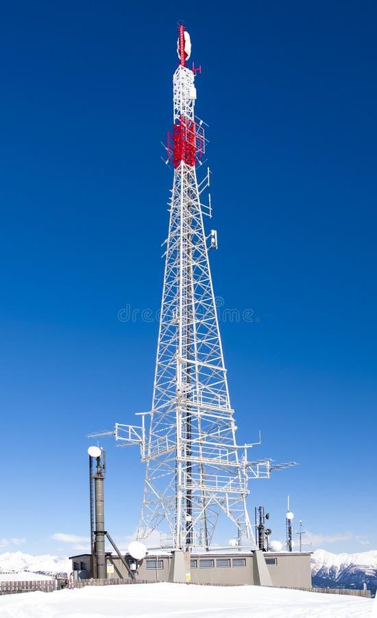 Tower antenna royalty free stock photos