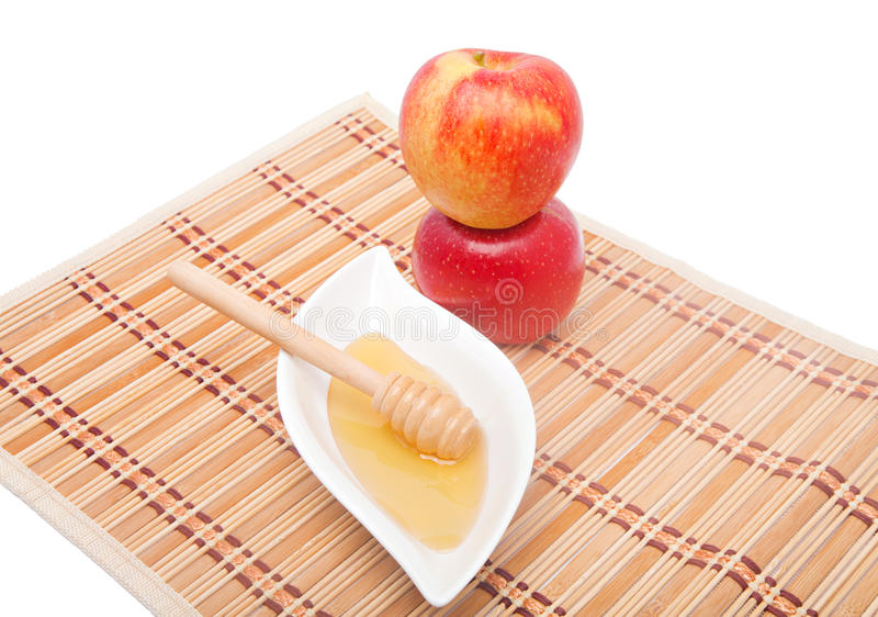 Tower Of Apples And Honey Stock Photography