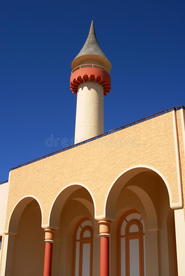 Download Tower And Arcades Detail On Blue Sky Background Stock Photo - Image: 11469348