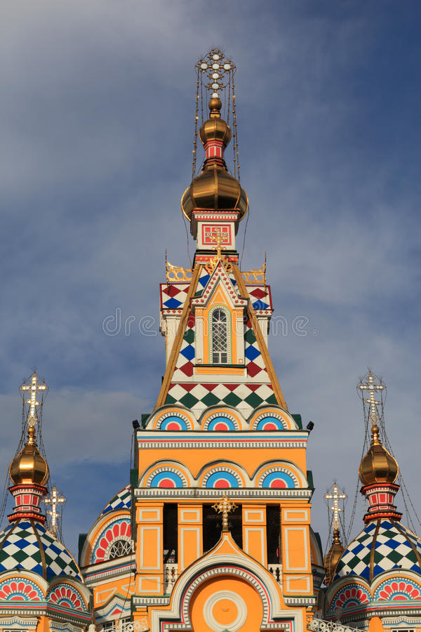 Tower Of Ascension Cathedral In Almaty Royalty Free Stock Photography