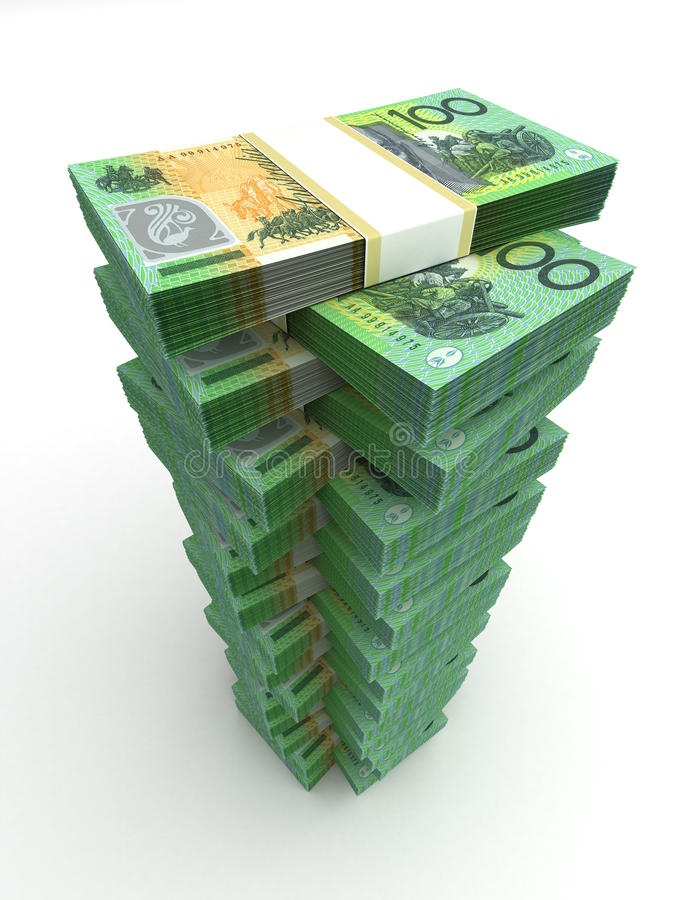 Download Tower of Australian Dollar stock illustration. Illustration of banking - 34471870