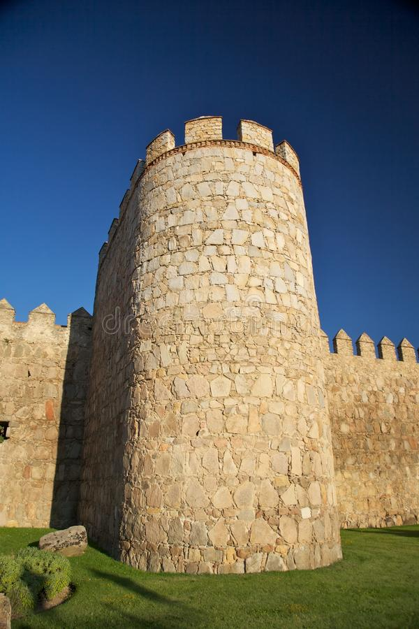 Download Tower With Battlements And Grass Stock Image - Image: 18736693