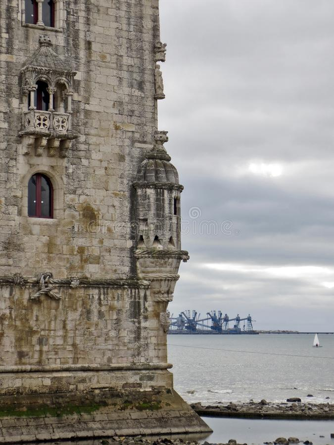 Tower of Belem in Lisbon. stock images