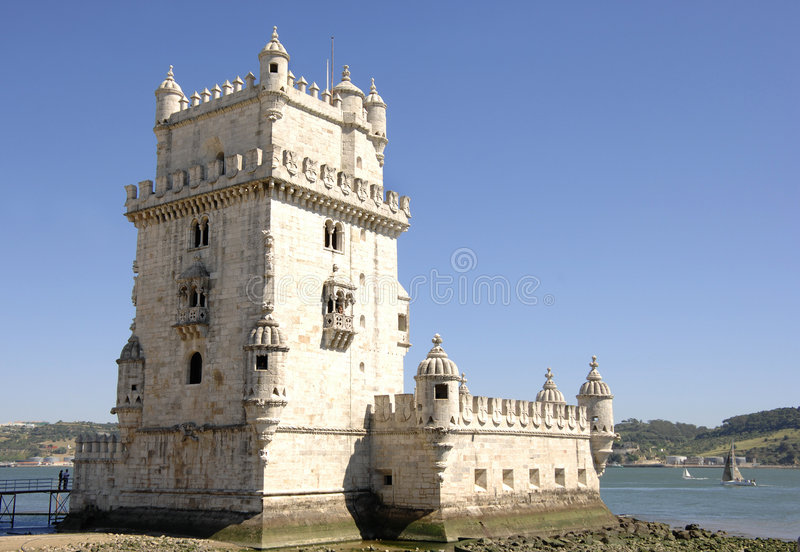 Tower of Belem in Portugal stock image