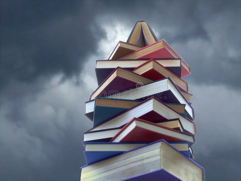Tower of Books royalty free stock photo