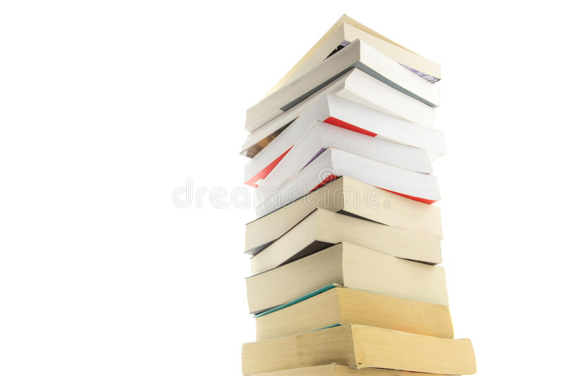 Download Tower of books stock image. Image of literature, isolated - 38132451