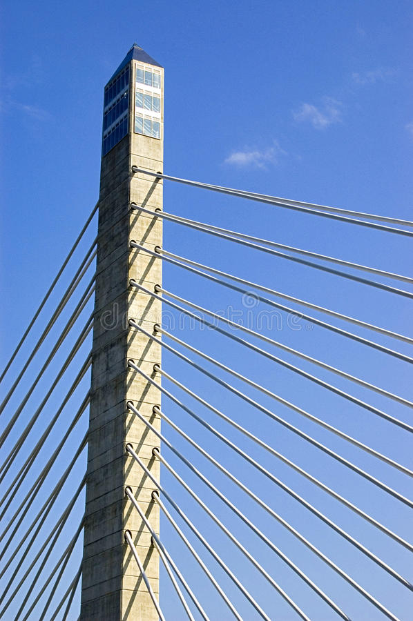 The tower of a bridge. In America stock photo
