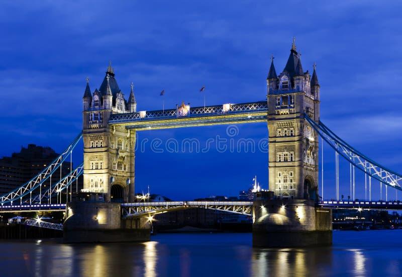 Tower Bridge. London's Tower Bridge at twilight stock images