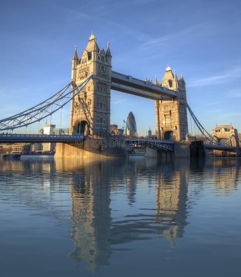 Tower Bridge Amazing Reflection royalty free stock image