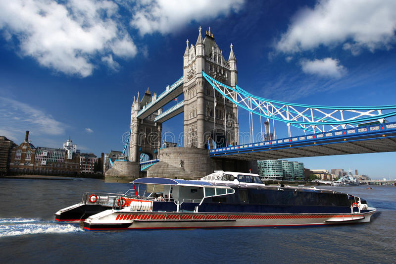 Download Tower Bridge With Boat, London, UK Stock Photo - Image: 19802548