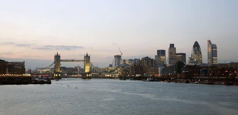 Download Tower Bridge at dusk stock image. Image of bridge, outdoors - 23270353