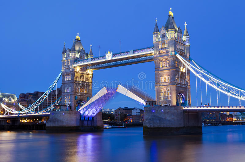 Tower Bridge at Dusk in London stock photo