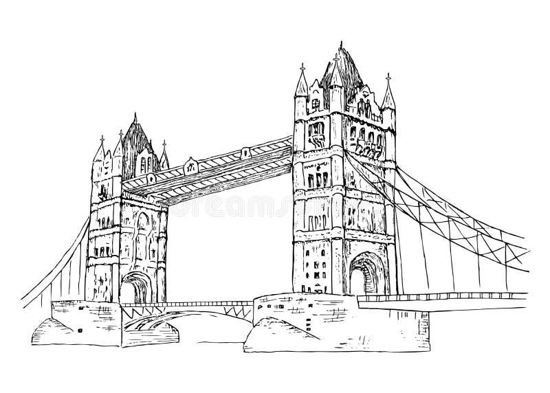 Line Drawing Uk : Tower bridge stock vector illustration of building