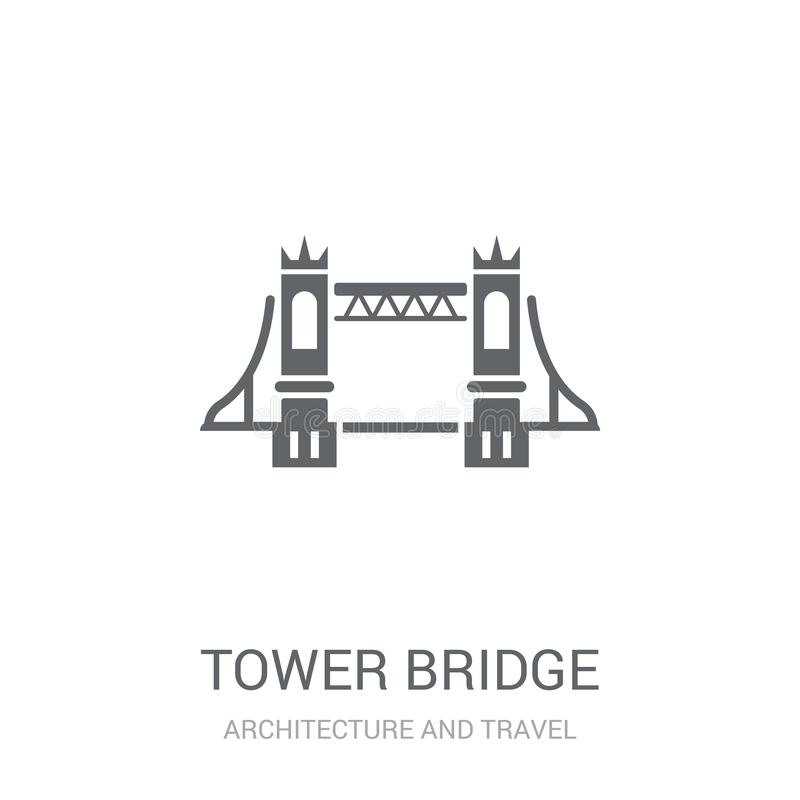 Tower bridge icon. Trendy Tower bridge logo concept on white background from Architecture and Travel collection vector illustration