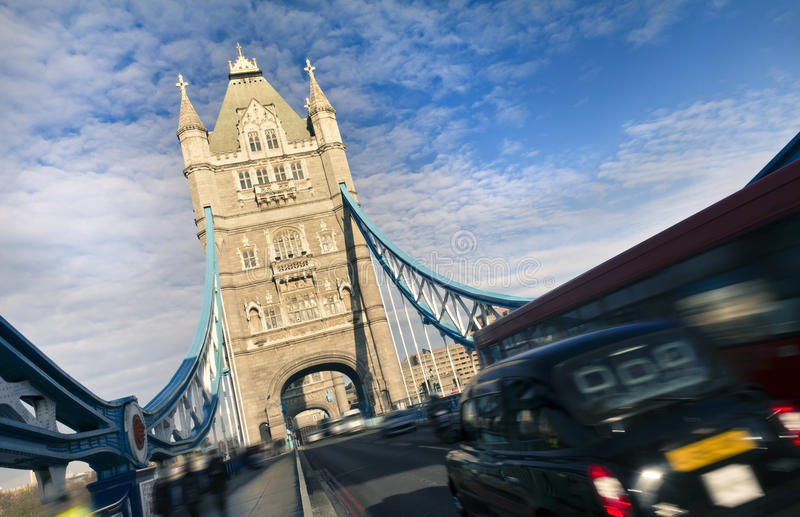 Tower Bridge, London. Tower Bridge, city rush, London royalty free stock photo