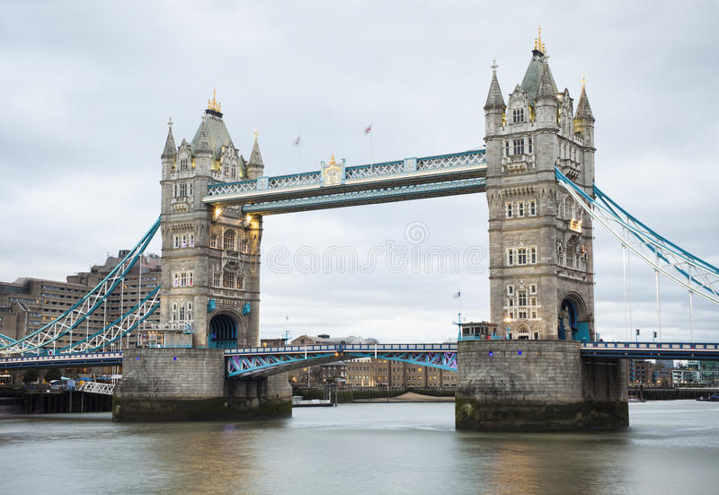 Tower Bridge in London city. Afternoon view of Tower Bridge in London city, UK stock images