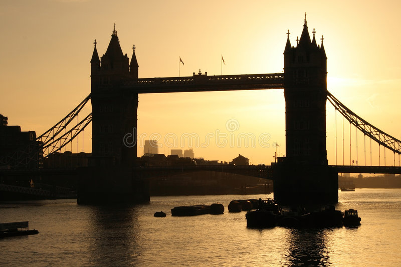 Download Tower Bridge In London At Dawn Stock Image - Image: 2140451