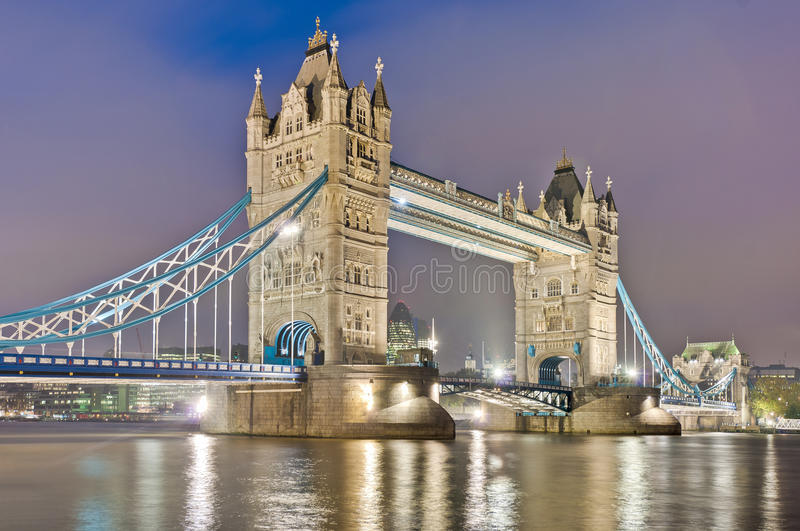 Tower Bridge At London, England Stock Images