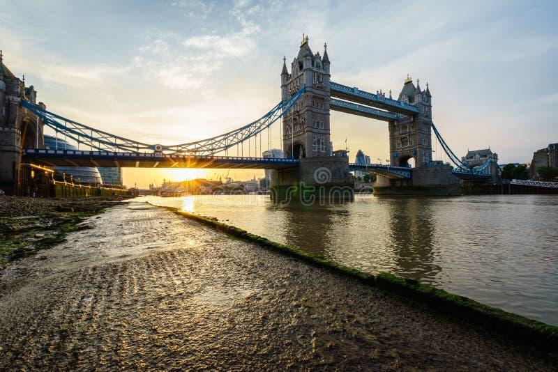 Tower Bridge in London, England stock photos