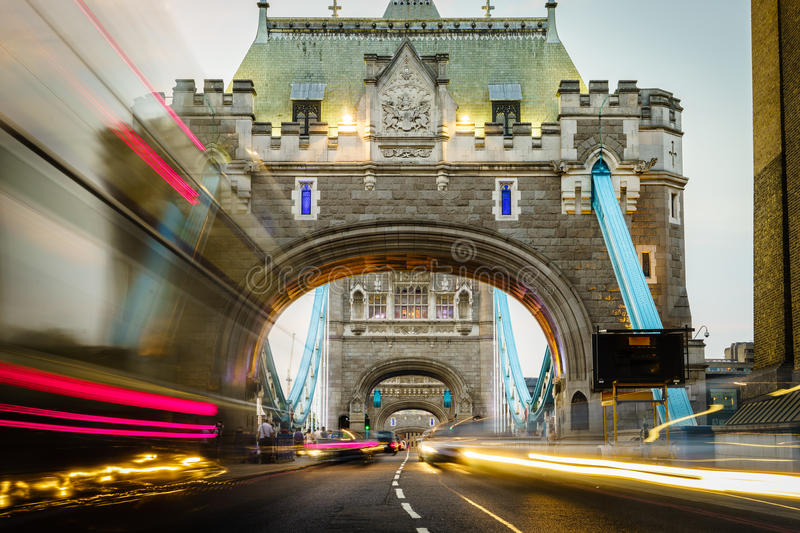Tower Bridge in London, England stock images