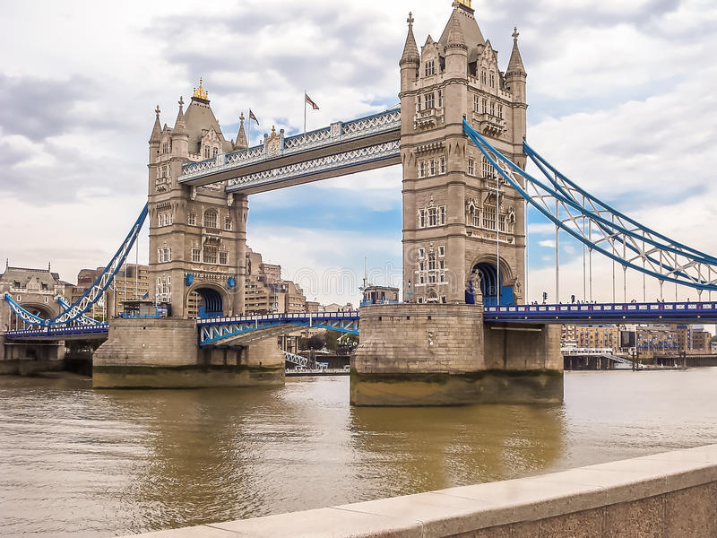 Tower Bridge in London. One of most famous bridges stock photo