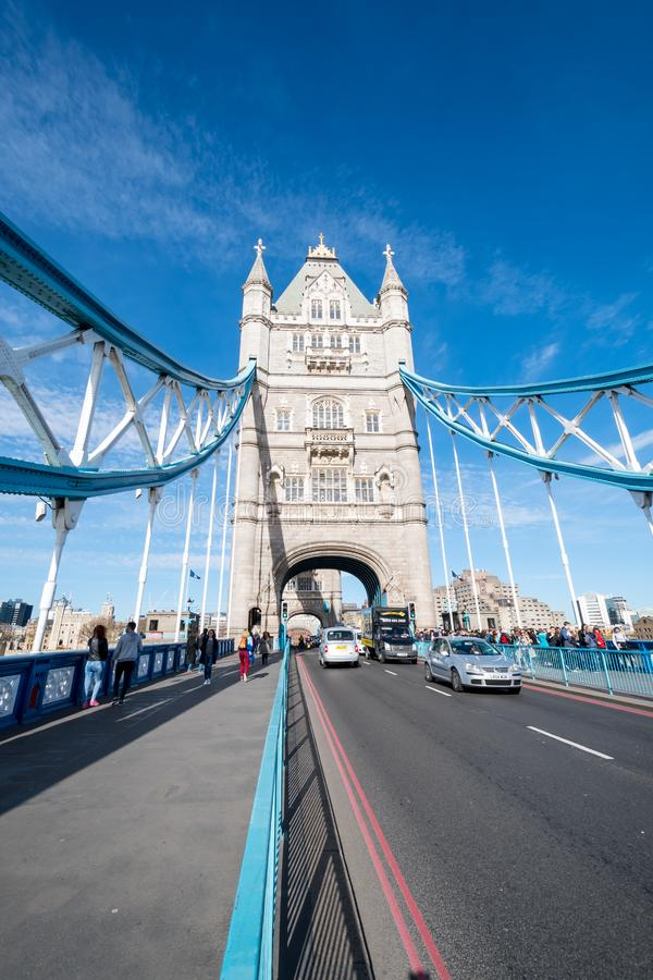 Tower Bridge in London over the Themse. Tower Bridge in London over the River Themse stock photography