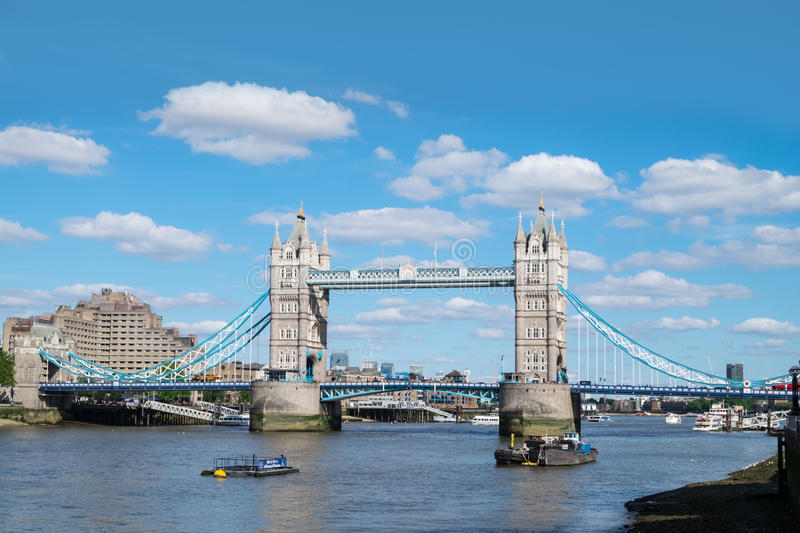 Tower Bridge, London, in summer royalty free stock images