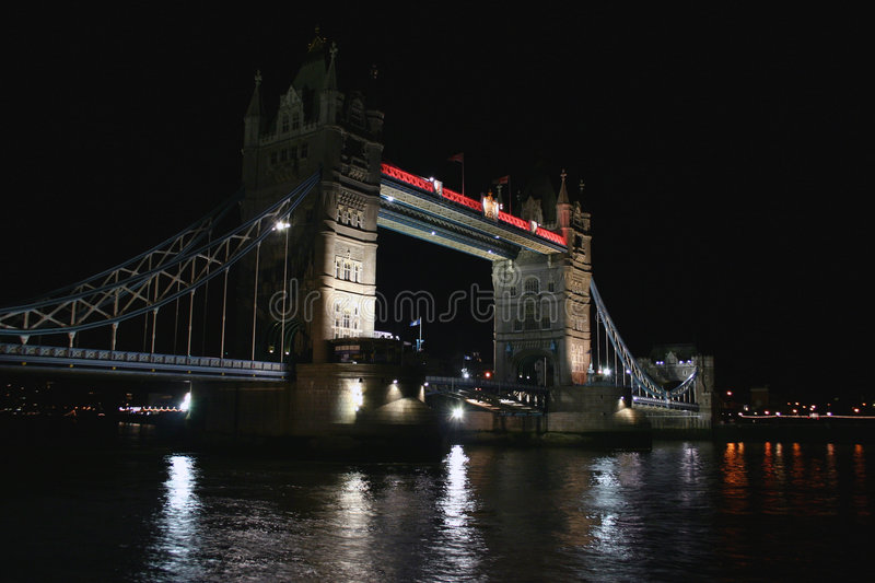 Download Tower Bridge at night stock image. Image of scenic, england - 55611