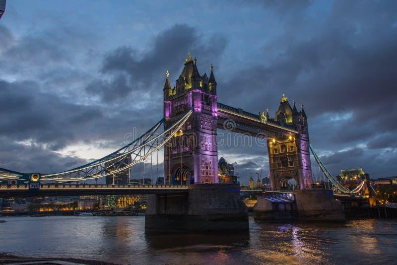 Download Tower Bridge at night editorial stock image. Image of sets - 83714474