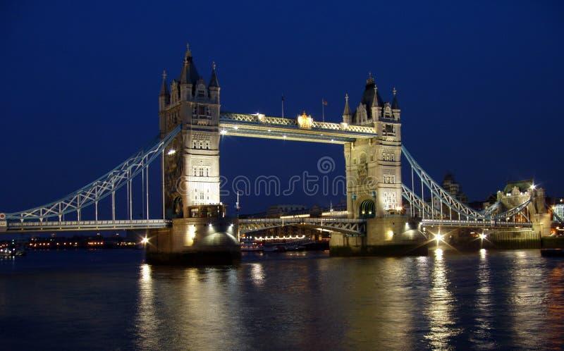 Tower bridge night shot royalty free stock photos