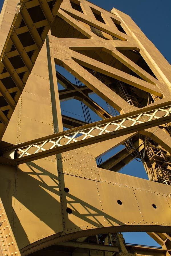 Tower Bridge Old Sacramento stock photography