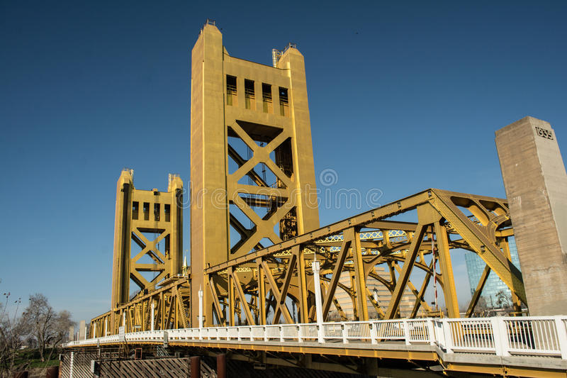 Tower Bridge Old Sacramento stock photos