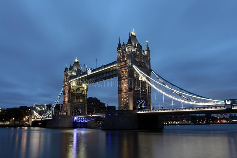 Tower Bridge. Over the Thames River stock images