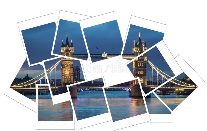 Tower bridge polaroid stock photo
