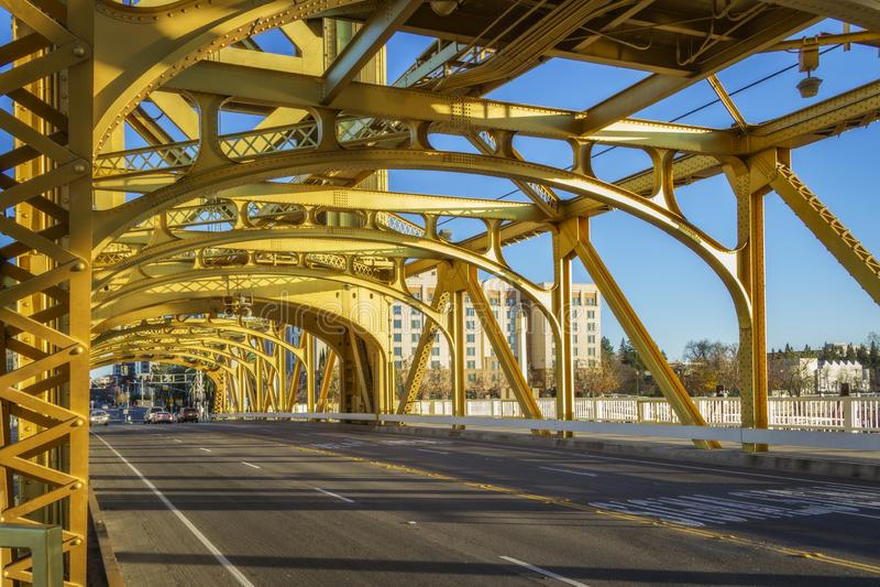 Tower Bridge in Sacramento, CA royalty free stock images