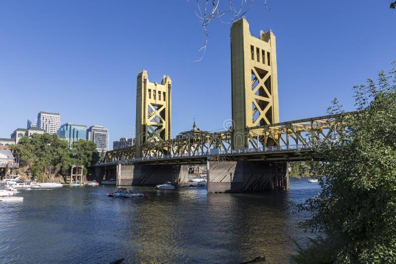 Tower Bridge Sacramento, California royalty free stock image