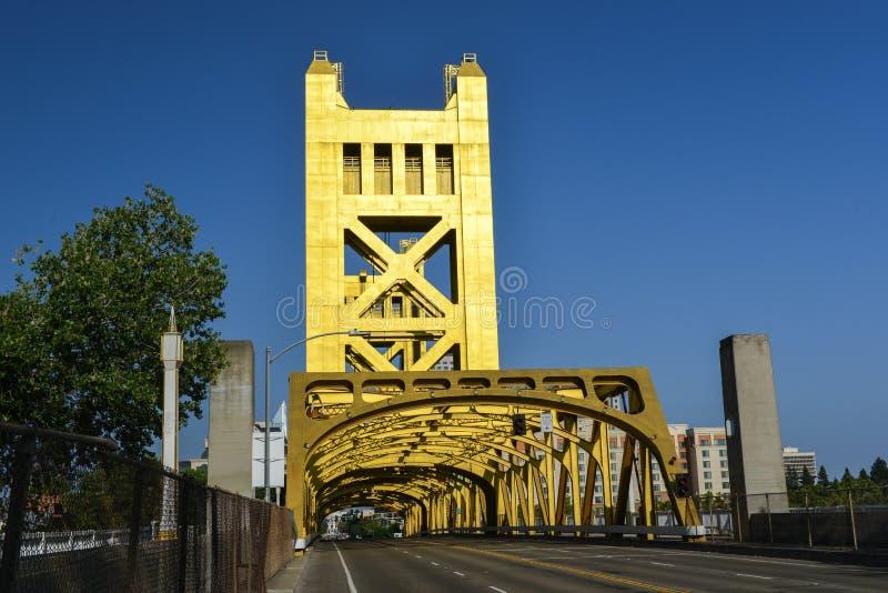 Tower Bridge, Sacramento, California stock images