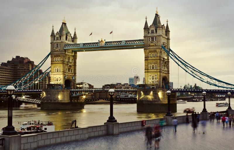Tower Bridge at sunset. London's Tower Bridge at sunset royalty free stock photo