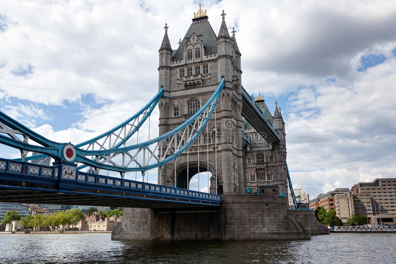 Tower Bridge, Thames, London, England. The Tower Bridge of the river Thames in London, UK royalty free stock photos