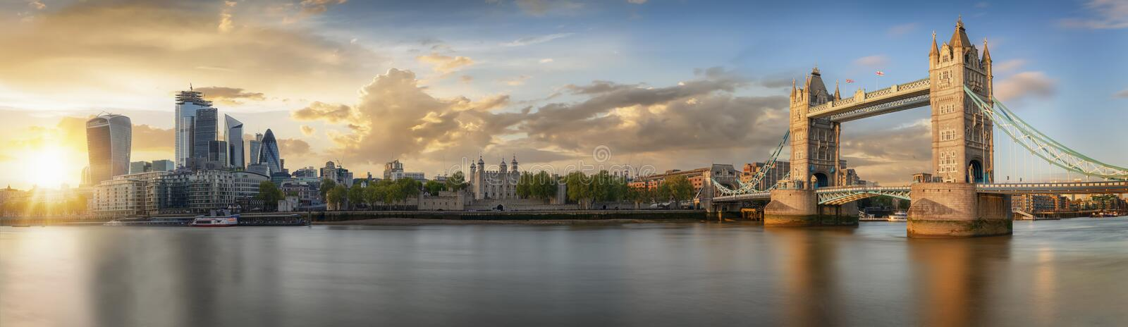 From the Tower Bridge to the skyscrapers of the City, United Kingdom royalty free stock images