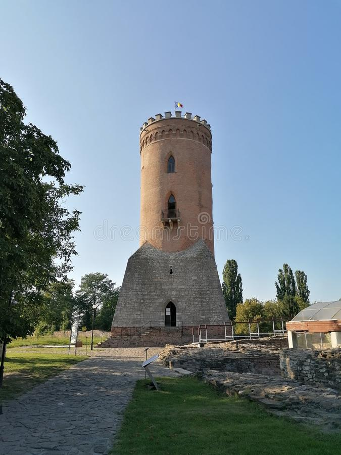A tower built in the 15th century. In Targoviste  Romania stock photography