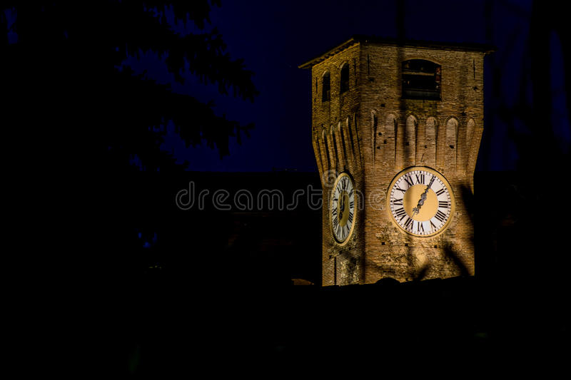 Tower of castle in Bazzano royalty free stock image